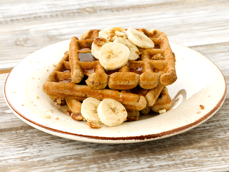 Banana Nut Waffles - Deliciously Different