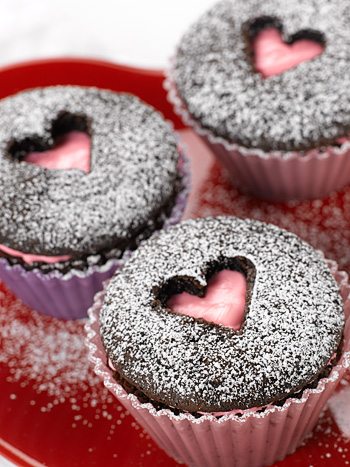 Sweet Heart Cupcakes - Deliciously Different